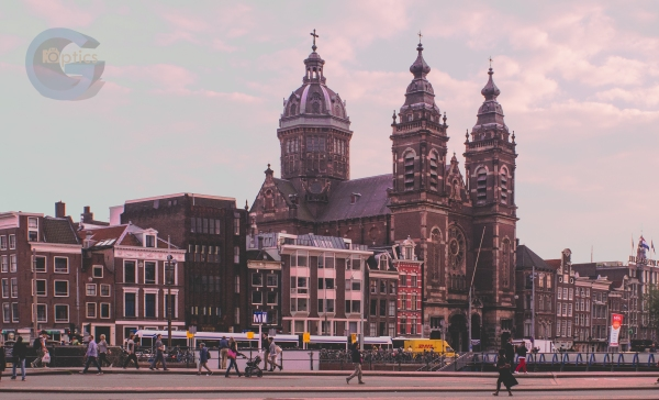 The Church of Saint Nicholas in the heart of downtown Amsterdam, right across the street from Central Station.